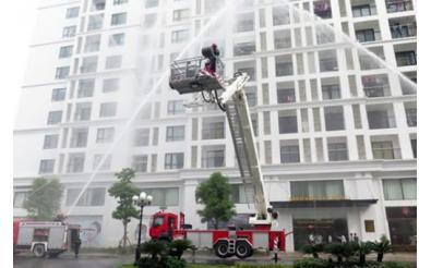 Thang chữa cháy lên được tầng bao nhiêu