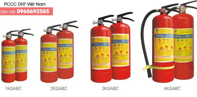 Một số loại bình thiết bị chữa cháy