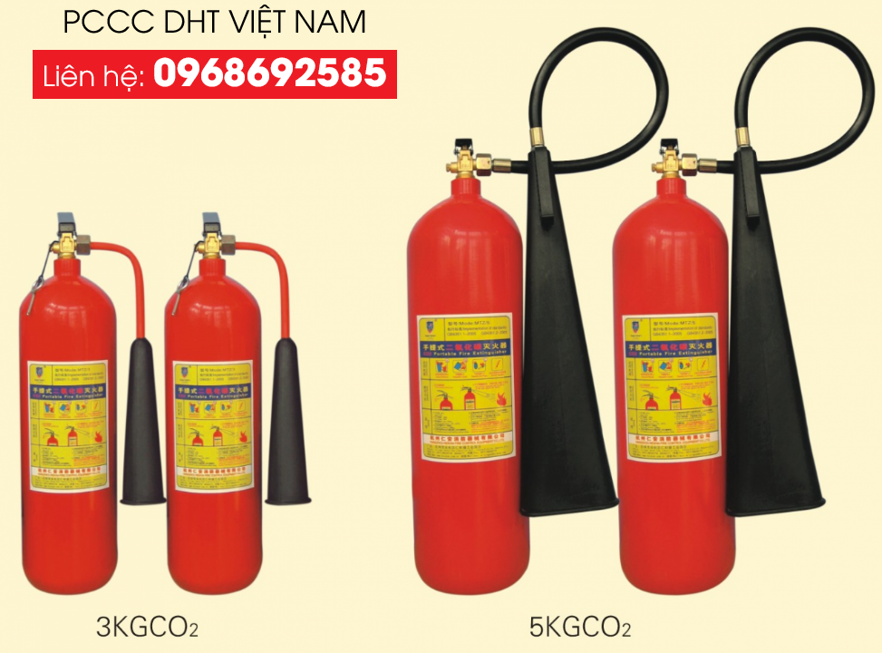 Bình chữa cháy dạng khí theo phân loại