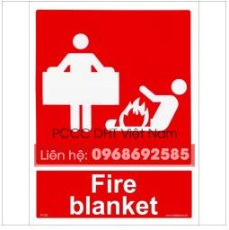 Biển hiệu dùng chăn chiên chữa cháy để dập tắt ngọn lửa trên người