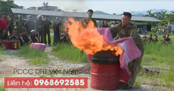 Tập huấn PCCC với chăn chiên chữa cháy