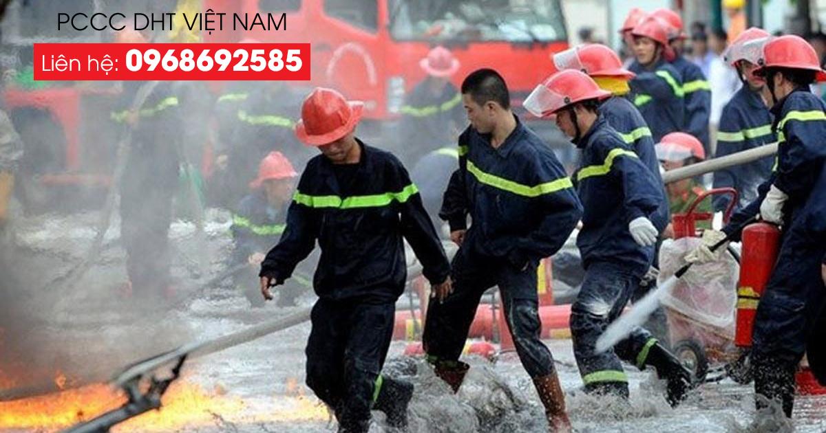 PCC DHT Việt Nam hỗ trợ phòng chống cháy nổ