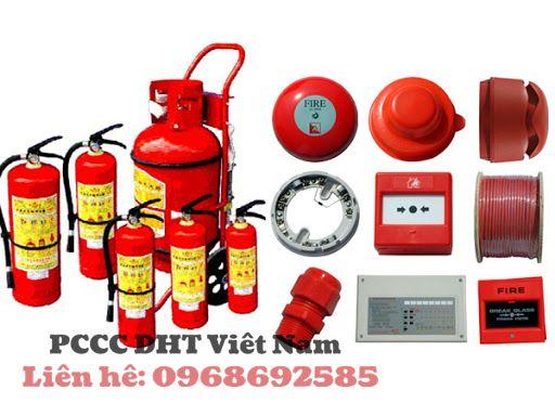 Hệ thống các thiết bị chữa cháy.